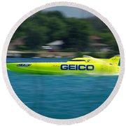 Geico Offshore Racer Round Beach Towel