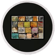 Gemstones And More Collage Round Beach Towel
