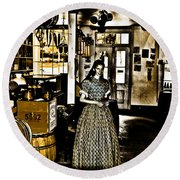 General Store Harpers Ferry Round Beach Towel