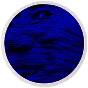 Gentle Giant In Blue Round Beach Towel