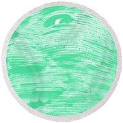 Gentle Giant In Negative Green Round Beach Towel