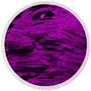 Gentle Giant In Purple Round Beach Towel