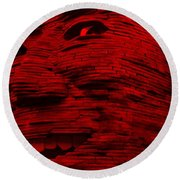 Gentle Giant In Red Round Beach Towel