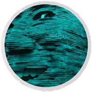 Gentle Giant In Turquois Round Beach Towel