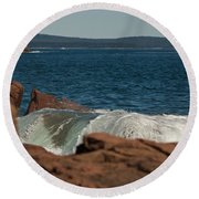 Gently Rolling Tide Round Beach Towel