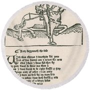 Geoffrey Chaucers, Canterbury Tales Round Beach Towel