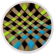 Geometrical Colors And Shapes 1 Round Beach Towel