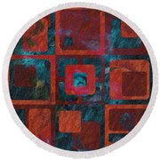 Geomix 02 - Sp07c03b Round Beach Towel