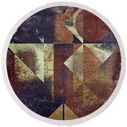 Geomix 04 - 6ac8bv2t7c Round Beach Towel by Variance Collections