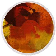 Geomix 05 - 02at02b Round Beach Towel by Variance Collections