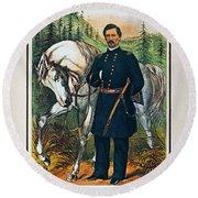 George B. Mcclellan, 1864 Round Beach Towel