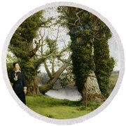 George Herbert At Bemerton Round Beach Towel