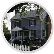 George Peers House Appomattox Virginia Round Beach Towel
