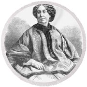 George Sand, French Author And Feminist Round Beach Towel