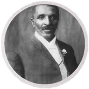 George W. Carver, African-american Round Beach Towel