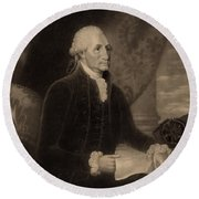 George Washington, 1st American Round Beach Towel