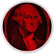 George Washington In Red Round Beach Towel