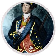 George Washington, Virginia Colonel Round Beach Towel by Photo Researchers, Inc.