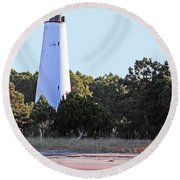 Georgetown Light Winyah Bay Sc Round Beach Towel