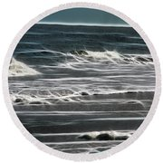 Georgia - Ocean Sparks Round Beach Towel