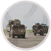 German Army Man 7t Mil Gl 6x6 Pritsche Round Beach Towel