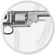 German Revolver, 1856 Round Beach Towel