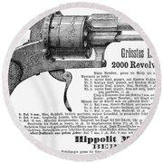 German Revolver, 1880 Round Beach Towel