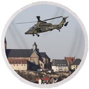 German Tiger Eurocopter Flying Round Beach Towel