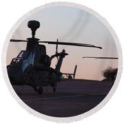 German Tiger Eurocopters At Stendal Round Beach Towel