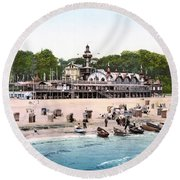 Germany: Casino, C1895 Round Beach Towel