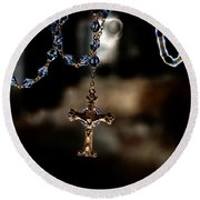 Ghost Of A Rosary Round Beach Towel