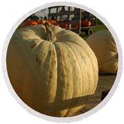 Ghost Pumpkin Round Beach Towel