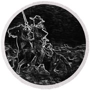 Ghost Rider Round Beach Towel