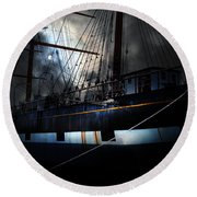 Ghost Ship Of The San Francisco Bay . 7d14153 Round Beach Towel