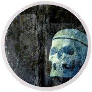 Ghost Skull Round Beach Towel