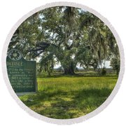 Ghosts Of Delisle  Round Beach Towel