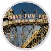 Giant Fun Fair Round Beach Towel by Adrian Evans