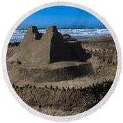 Giant Sand Castle Round Beach Towel