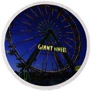 Giant Wheel  Round Beach Towel