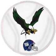 Giants Suck Round Beach Towel by Bill Cannon