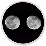 Gibbous Moon Round Beach Towel