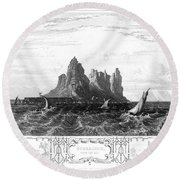 Gibraltar, 19th Century Round Beach Towel