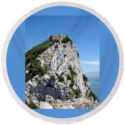 Gibraltar's Moorish Castle Round Beach Towel