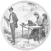 Gibson: Businessman, 1903 Round Beach Towel