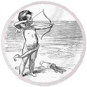 Cupid, 1900 Round Beach Towel