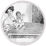 Gibson: Gibson Girl, 1901 Round Beach Towel
