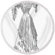 Gibson: Gibson Girl, 1903 Round Beach Towel