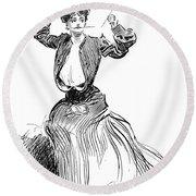 Gibson: Gibson Girl, 1904 Round Beach Towel