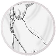 Gibson Girl, 1899 Round Beach Towel
