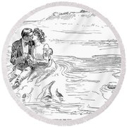 Turning Tide, 1901 Round Beach Towel